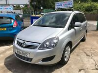 2014 VAUXHALL ZAFIRA EXCLUSIV MPV 31850 MILES 1 OWNER IDEAL FOR PCO/TAXI FINANCE: £140 PER MONTH