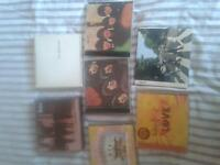 collection of 7 Beatles albums