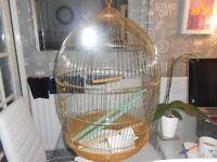 Lazy bones round gold bird cage