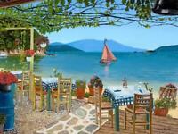 Skiathos Taverna Sklithri A3 Giclee limited edition print
