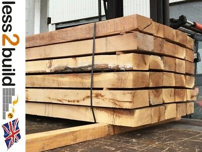 New Hardwood Oak Timber  Railway Sleeper 200mmX100mm 2.4M Raised Beds x1 sleeper