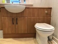 Bathroom units complete with Roca sink and wc. Includes taps and and built-in cistern