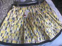 NEW ladies principles flared patterned skirt size 16