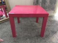 Pink Ikea lack table