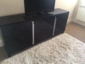 Customised Ikea black side table