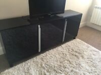 Customised Ikea black side table