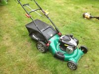 Qualcast petrol mower for sale with spare mower
