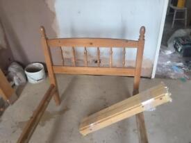 Pine bed frame (no mattress)