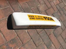 Top sign Taxi