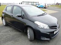 2013 Toyota Yaris 1.33 VVT-i TR 5dr 1329cc Petrol NEW MOT! -Black- One Previous Owner