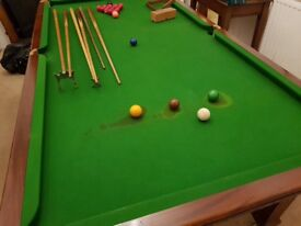Riley snooker dining table 7ft4inch x 4ft