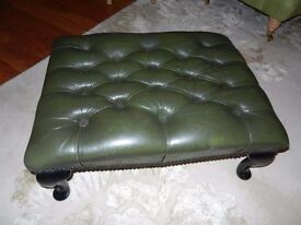 Large leather footstool