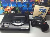 Sega Megadrive all leads and controller