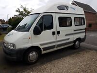 Peugeot boxer campervan 4 berth, 5 seattbelts, 11 mths MOT and service history