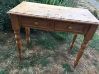 Small pine desk/dressing table