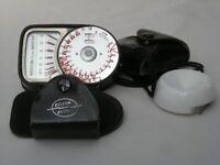 Weston Euro-Master exposure meter with case and invercone