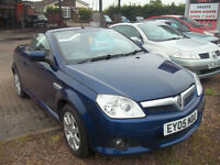 2005 05 VAUXHALL TIGRA CONVERTIBLE HARD TOP NEW MOT 1.4 LOW INSURANCE ONLY £1995
