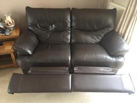 Leather 3 & 2 sofa
