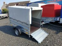 BRAND NEW MODEL 6X4 DOUBLE BROADSIDE WITH FRAME AND 80CM COVER
