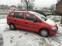 Vauxhall Zafira 1.6 petrol 03 £385