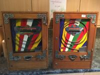 Penny machine, slot machine, one arm bandit, fairground related items wanted