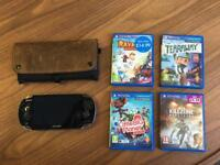 PS Vita with 4 Games, memory cards and carry case