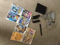 BARGAIN!! Nintendo wii with 8 games, 2 controllers & all wires included