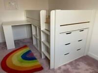 Dreams Midsleeper Kids White Cabin Bed