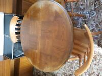 Pine Dining Table Extending & 3 Chairs