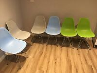 Contemporary dining chairs x6