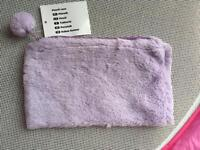 X37 Tesco fluffy purple pencil cases - New with tags