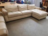 Large corner sofa with 2 seater sofa (sofa has storage space)