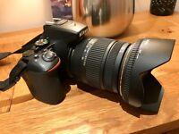 Nikon DSLR D5500 with Sigma 17-50mm 2.8 Lens