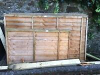 """Wood panel fence 4"""" by 6"""