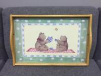 Bear tea party lap tray from St Michael Marks and Spencer M&S 1996 SDHC