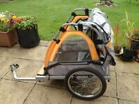 Bicycle trailer twin buggy