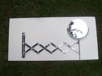 Extendable Chrome Shaving/Make up Mirror. Ultimate Hipster Accessory/Decorators Item.