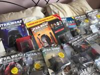 Star Wars helmet collection from number 1 to 41 plus Star Wars vehicles