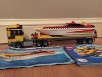 Lego City Harbour Set 4643 Power Boat Transporter with instructions