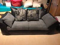 Memory foam three seater and two seater with a storage foot stall