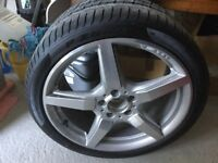 Genuine Mercedes AMG sport alloy wheel with tyre