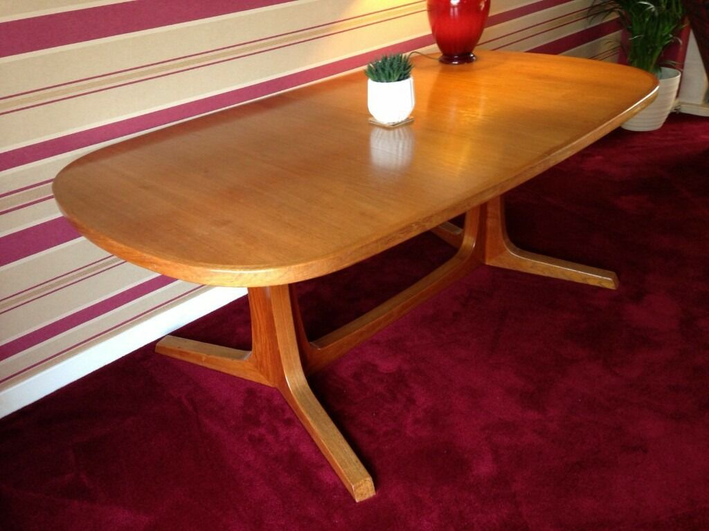 Retro Extending Dining Table Solid Rosewood Retro Extending Dining Table In Swanley Kent