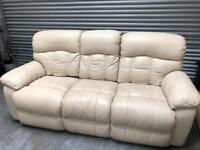 3 + 2 leather reclining sofas in very good condition