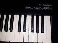M-Audio Prokeys 88SX Piano and Midi Controller / Stage Piano.