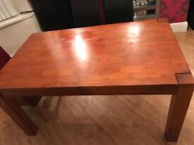 Wooden Dining Table, 6 Seater