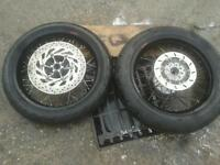 Yamaha Wr 125 X Supermoto Wheels Saxess Super Moto Fits All Years 09 / 16