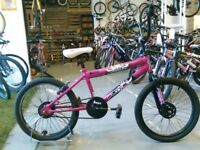 GIRLS FLITE PANIC BMX BIKE 20 INCH WHEELS PURPLE/BLACK GOOD CONDITION