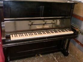 KNAUSS COBLENZ PIANO BLACK OVER STRUNG UNDER DAMPER £220 CAN DELIVER FREE LOCAL