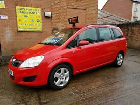 2008 Vauxhall Zafira Exclusive 1.6cc - 7 Seater - 3 Months Warranty