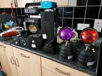 Collection Of Disco/DJ lights (scanners, lasers) soundlab, psycho